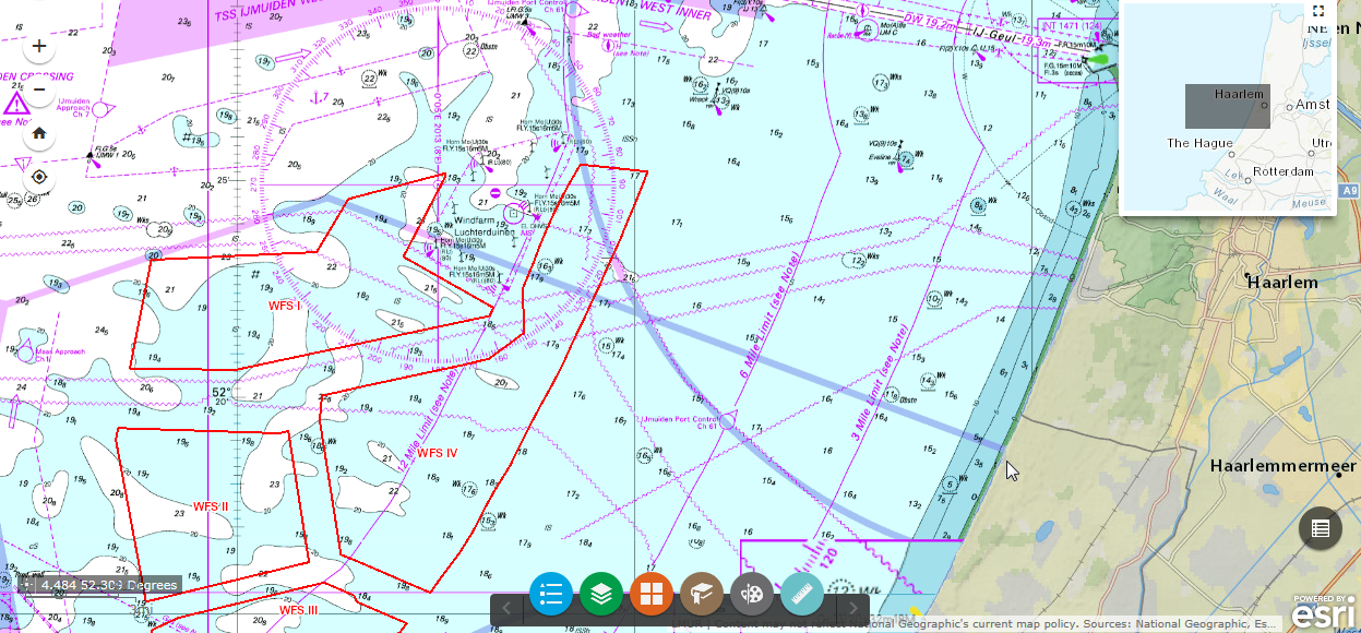 Raster Chart XL being used in Vattenfall's WebGIS